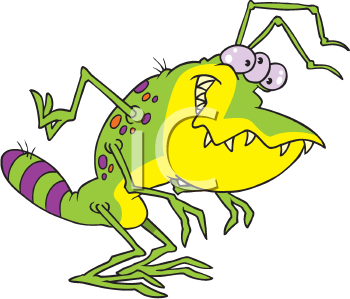 Royalty Free Clipart Image of a Bug