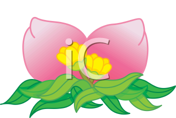 Royalty Free Clipart Image of Oriental Fruit With Flowers
