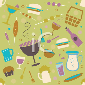 Royalty Free Clipart Image of a Barbecue Background