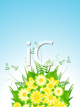Royalty Free Clipart Image of a Floral Bouquet