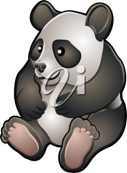 Royalty Free Clipart Image of a Panda Bear