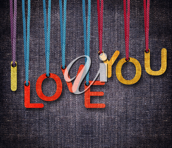 Royalty Free Clipart Image of I Love You