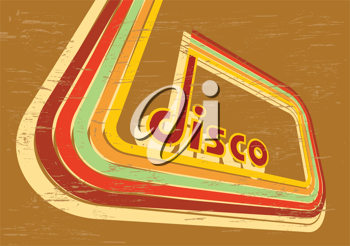 Royalty Free Clipart Image of a Disco Sign