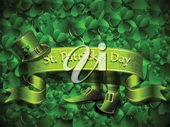 Royalty Free Clipart Image of a St.Patrick's Day Background