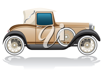 old retro car vector illustration isolated on white background