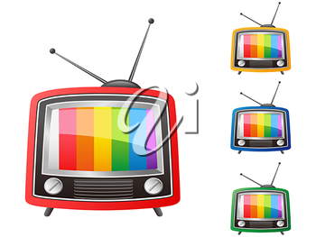 Royalty Free Clipart Image of Retro Television Sets
