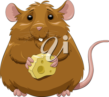 Royalty Free Clipart Image of a Brown Mouse
