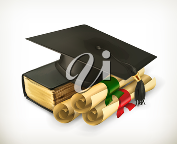 Education and Training, retro vector icon