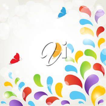 Floral card with butterfly