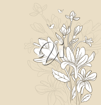 Vector illustration of floral backgrond