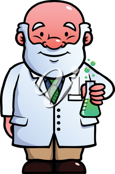 Royalty Free Clipart Image of a Scientist