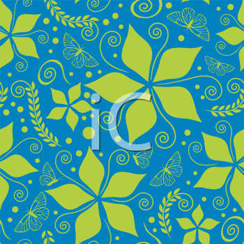 retro colored pattern with green and blue