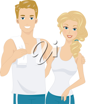 Illustration of a Physically Fit Couple