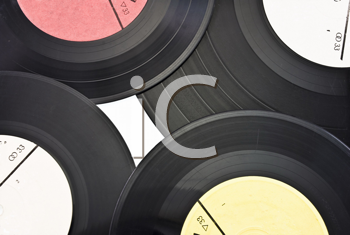 Royalty Free Photo of Old Dusty Scratched Vinyl Records