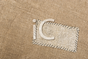 Royalty Free Photo of a Sackcloth Tag