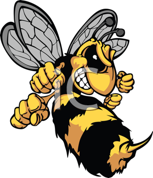 Royalty Free Clipart Image of an Angry Bee