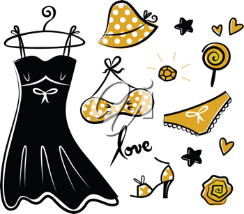Royalty Free Clipart Image of a Female Fashion