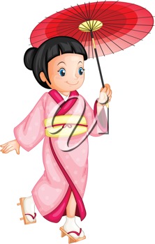 illustration of a japanese geisha