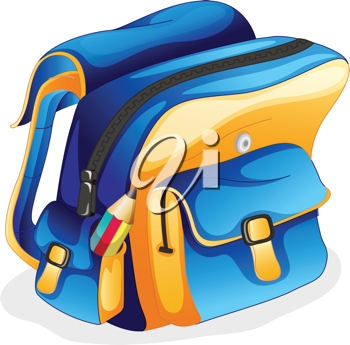 illustration of a school bag on a white background