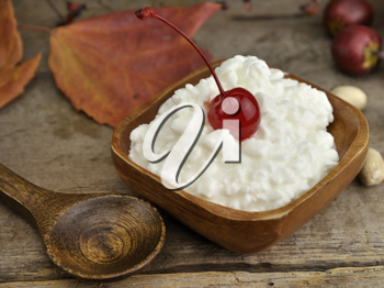 Royalty Free Photo of a Bowl of Cottage Cheese