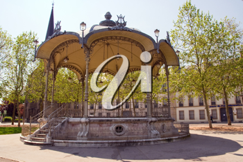 a bandstand in dijon city - france