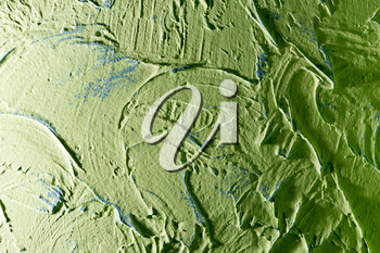 green decorative plaster as a background