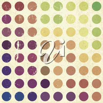 Retro colorful circles background, vector