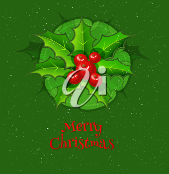 Vector illustration of Merry Christmas background