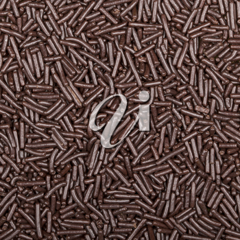 Macro texture of chocolate sprinkles (Dutch hagelslag)