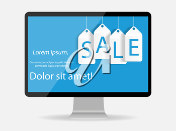 Sale Banner with Place for Your Text. Vector Illustration.